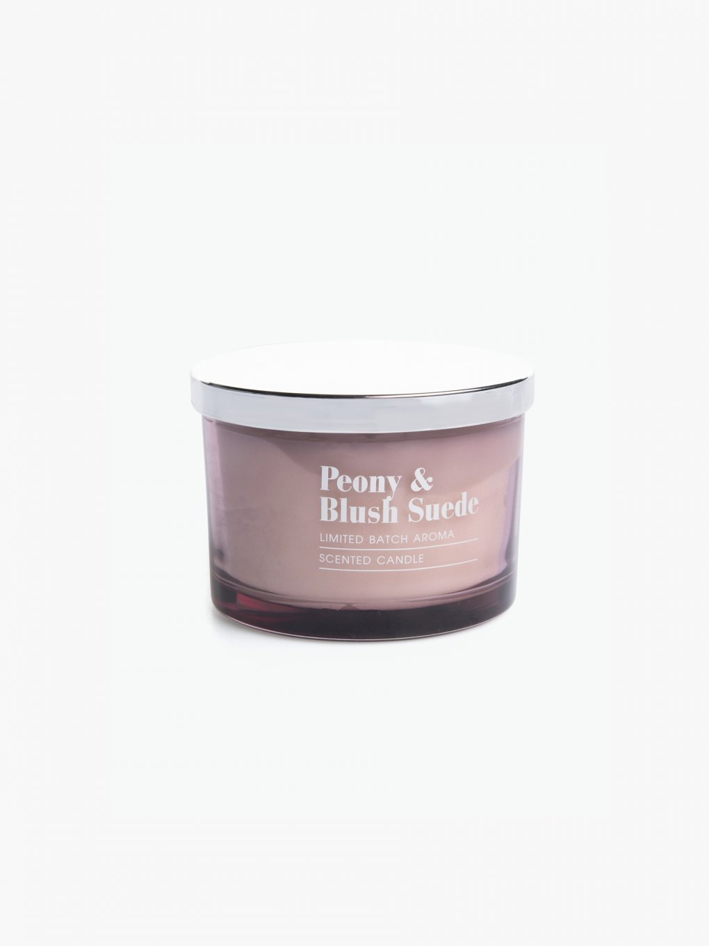 Peony and blush suede scented candle