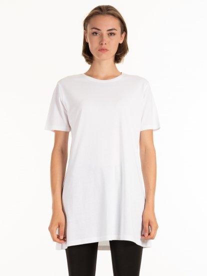 Basic longline cotton t-shirt