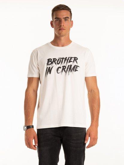 Bavlněné tričko s nápisem