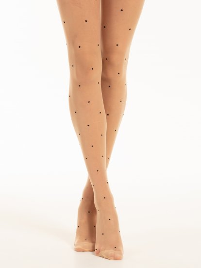 Tights with dots
