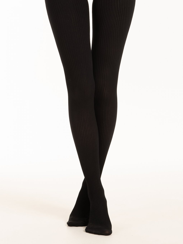 Warm stripped tights