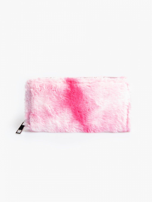 Huňatá farebná peňaženka