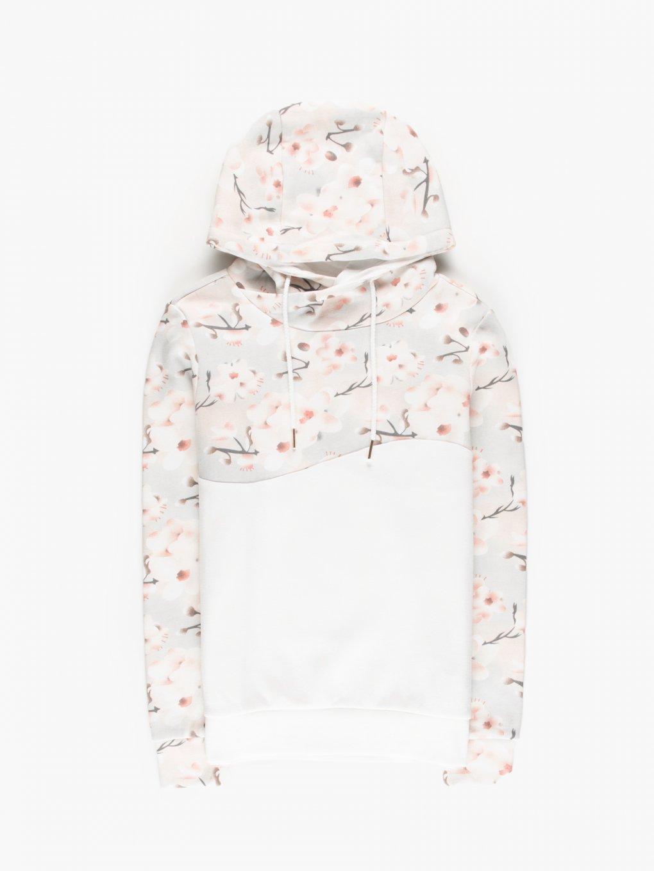 Hoodie with floral print