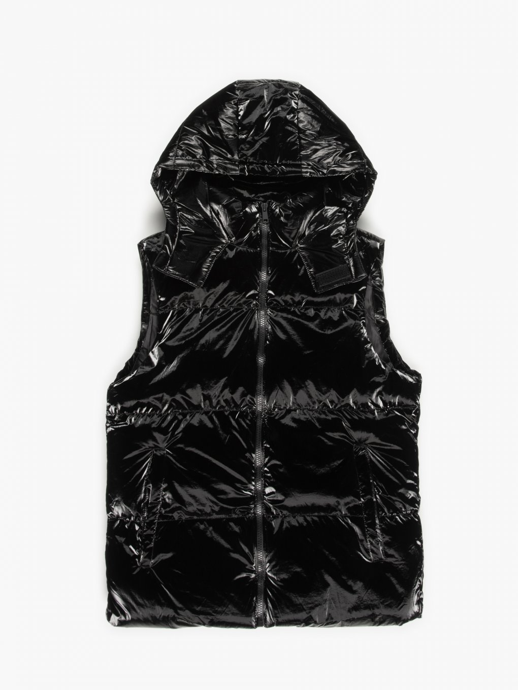 Quilted coated heavy vest