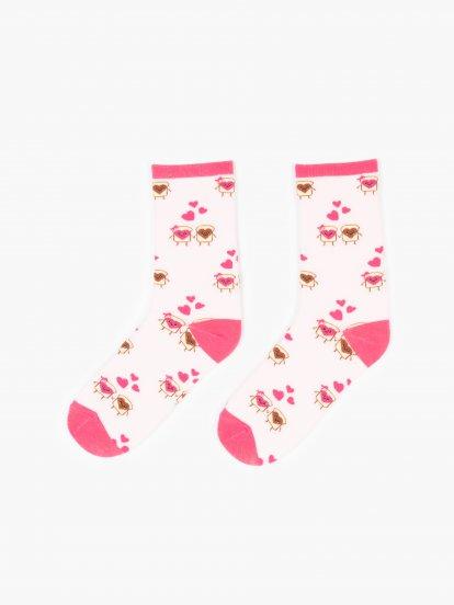 Patterned crew socks