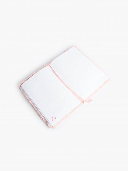 Zápisník s plyšovým obalom