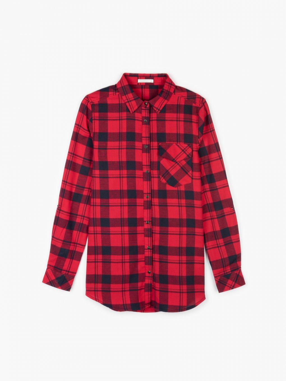 Bavlnená károvaná košeľa
