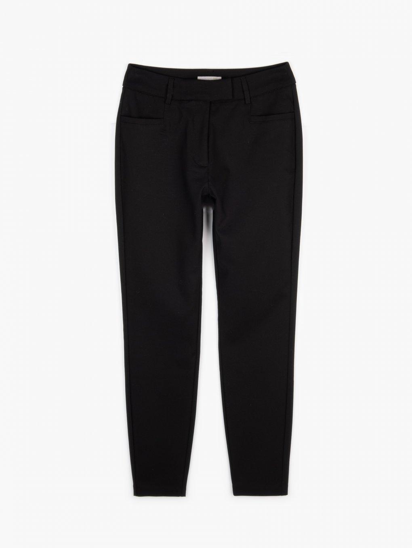 Mid waist carrot fit pants