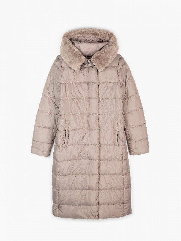 Dlhá vatovaná bunda
