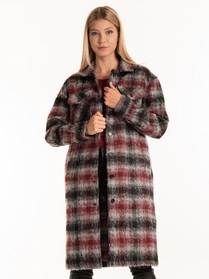 Dlhý kabát voľného strihu dámsky