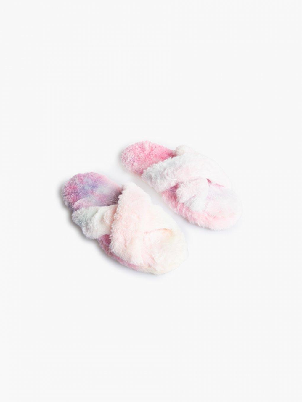 Huňaté dámske papuče