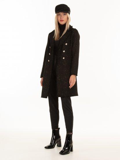 Coat with metallic fiber