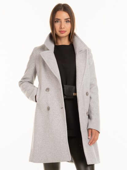 Oversized double breasted coat