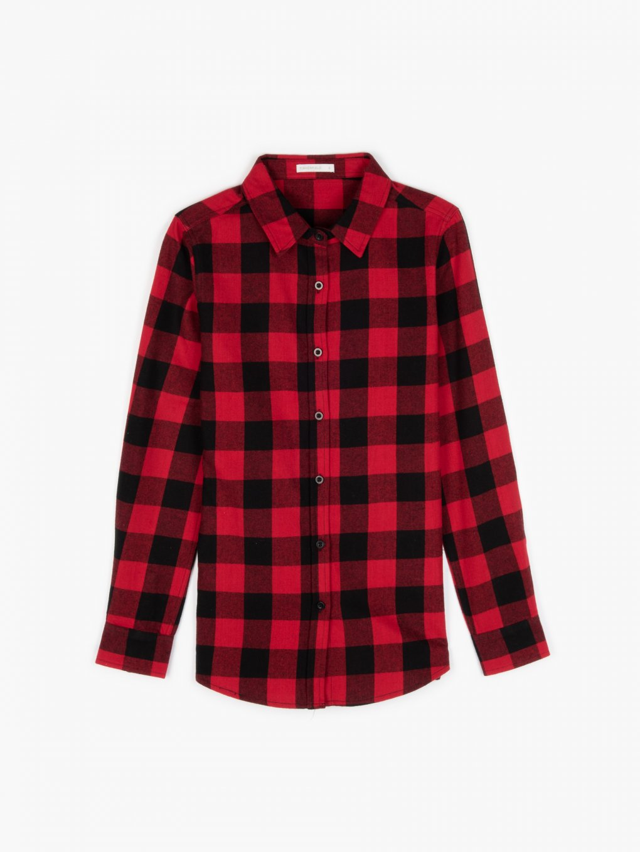 Károvaná flanelová košile