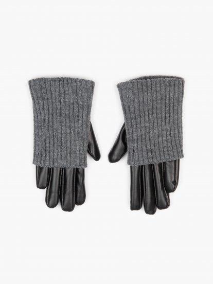 Kombinované rukavice dámské