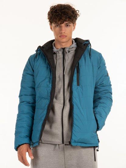 Oboustranná prošívaná vycpávaná bunda s kapucí