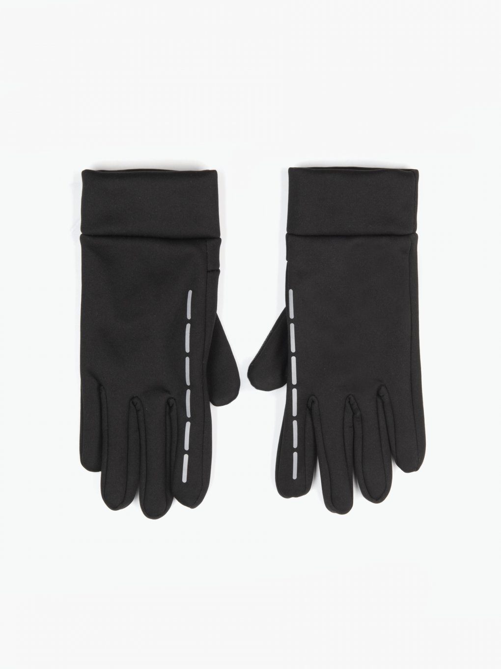 Touch screen gloves with reflective stripes