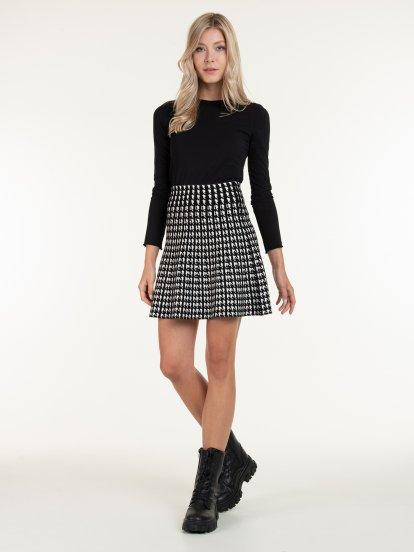 Pletená áčková sukně