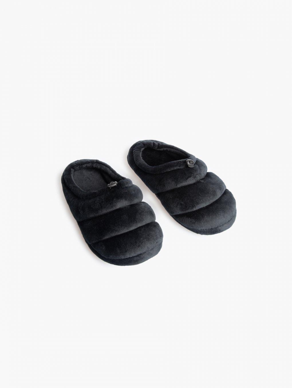 Plyšové dámske papuče na gumičku