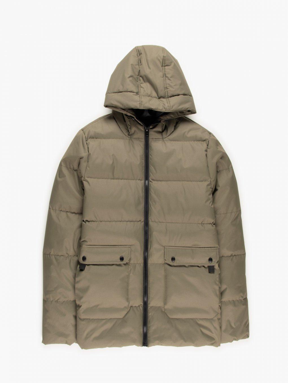 Prošívaná vycpávaná bunda s kapucí