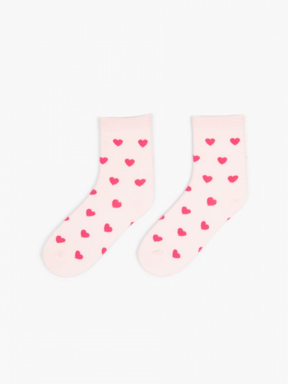 Crew socks with hearts