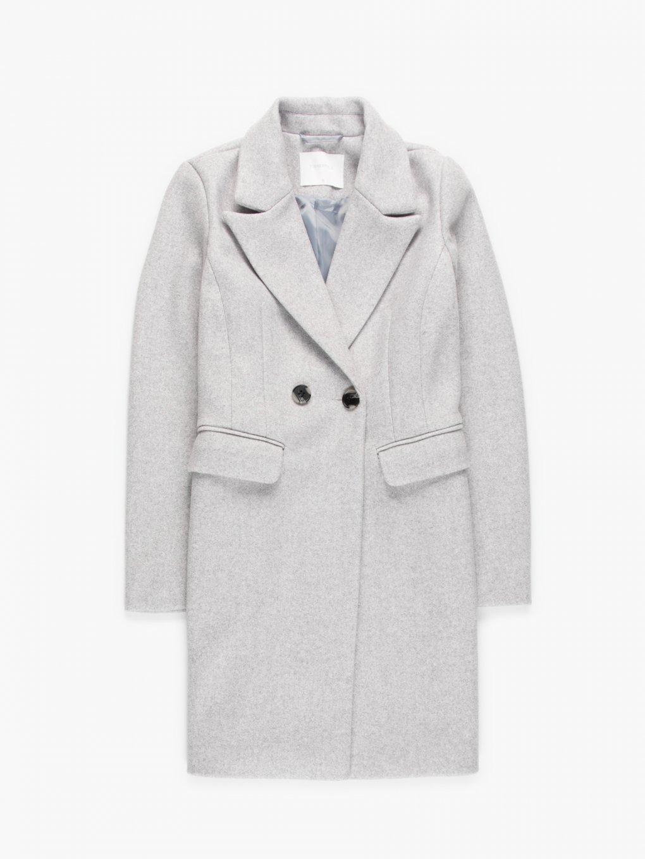 Basic marled coat