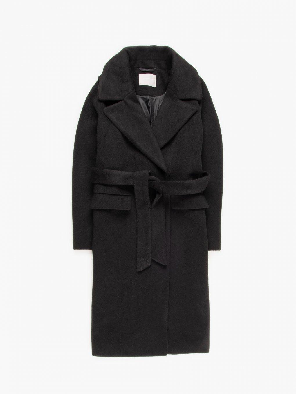 Základní basic kabát s páskem dámský