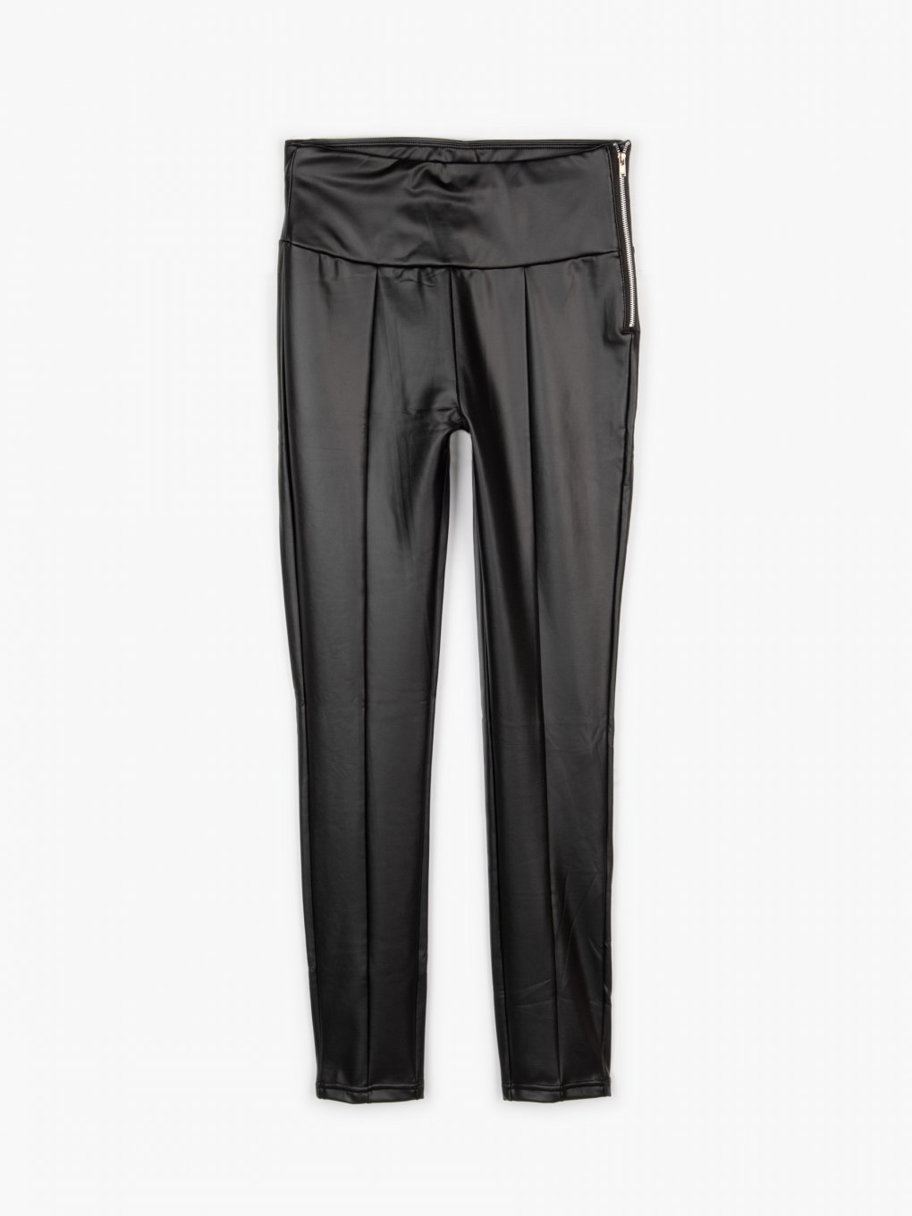 Faux leather warm jeggings
