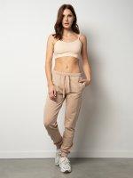 Jednokolorowe spodnie dresowe