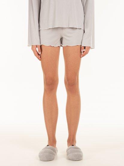 Jemné pyžamové dámské šortky