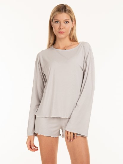 Jemné pyžamové dámské tričko