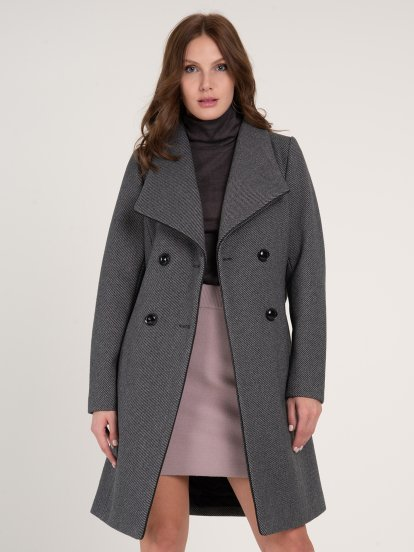 Coat in wool blend