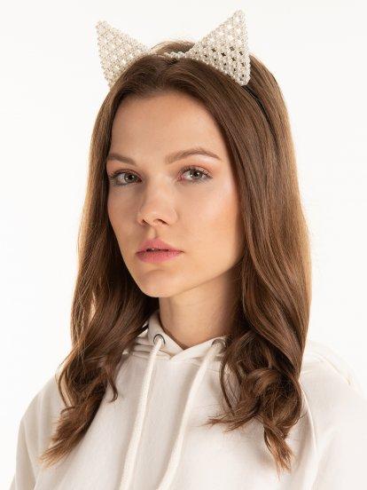 Beaded headdress with ears