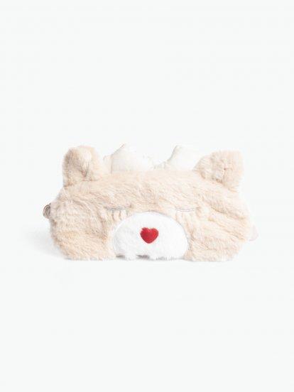 Maska na spaní z umělé kožešiny ve tvaru srnky