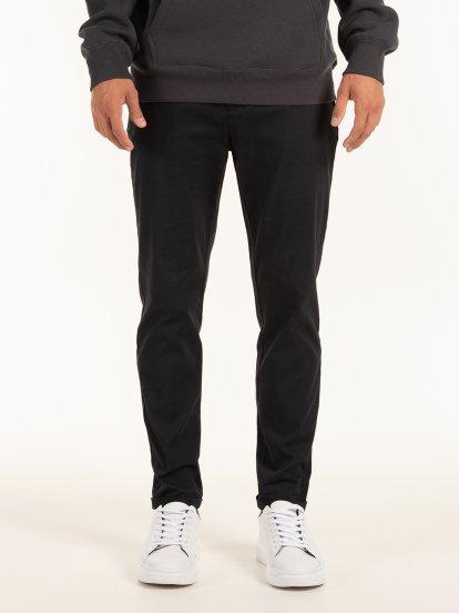 Straight slim trousers