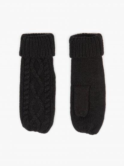 Pletené dámske rukavice