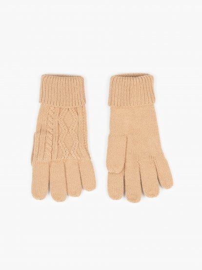 Pletené dámské rukavice
