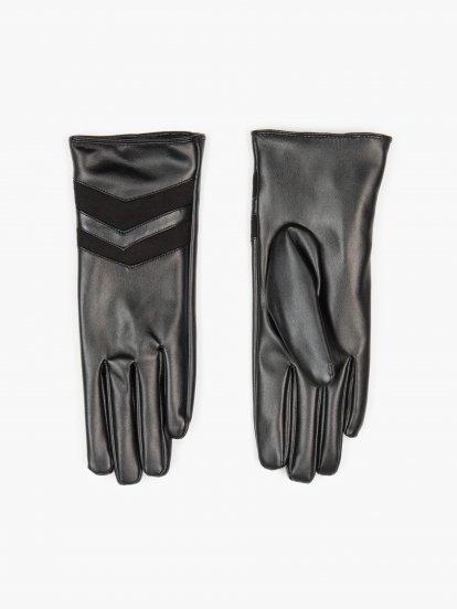 Rukavice z umělé kůže dámské