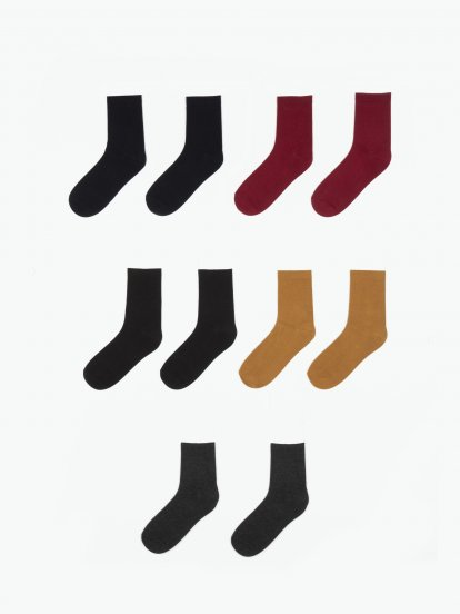 5-pack plain crew socks