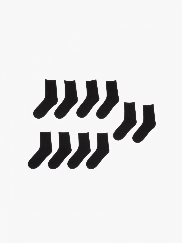 Sada piatich párov pánskych jednofarebných ponožiek