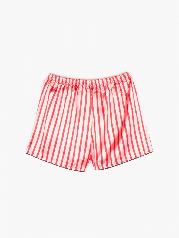 Saténové proužkované pyžamové dámské šortky