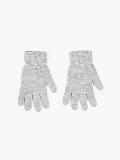Zakladní pletené dámské basic rukavice