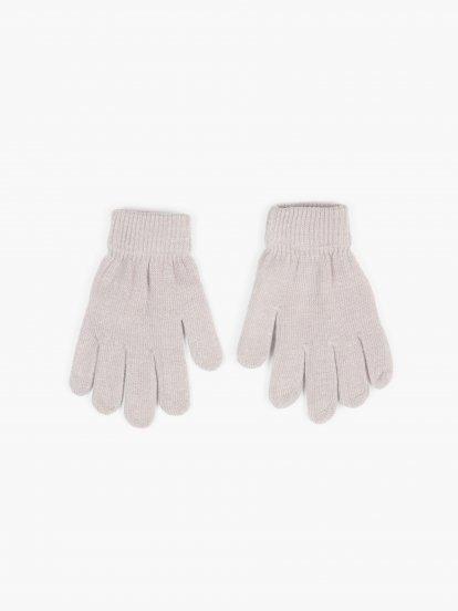 Základné pletené dievčenské basic rukavice