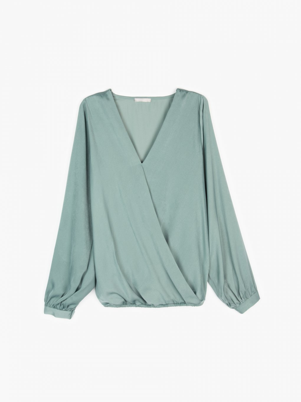 Wrapped long sleeve blouse